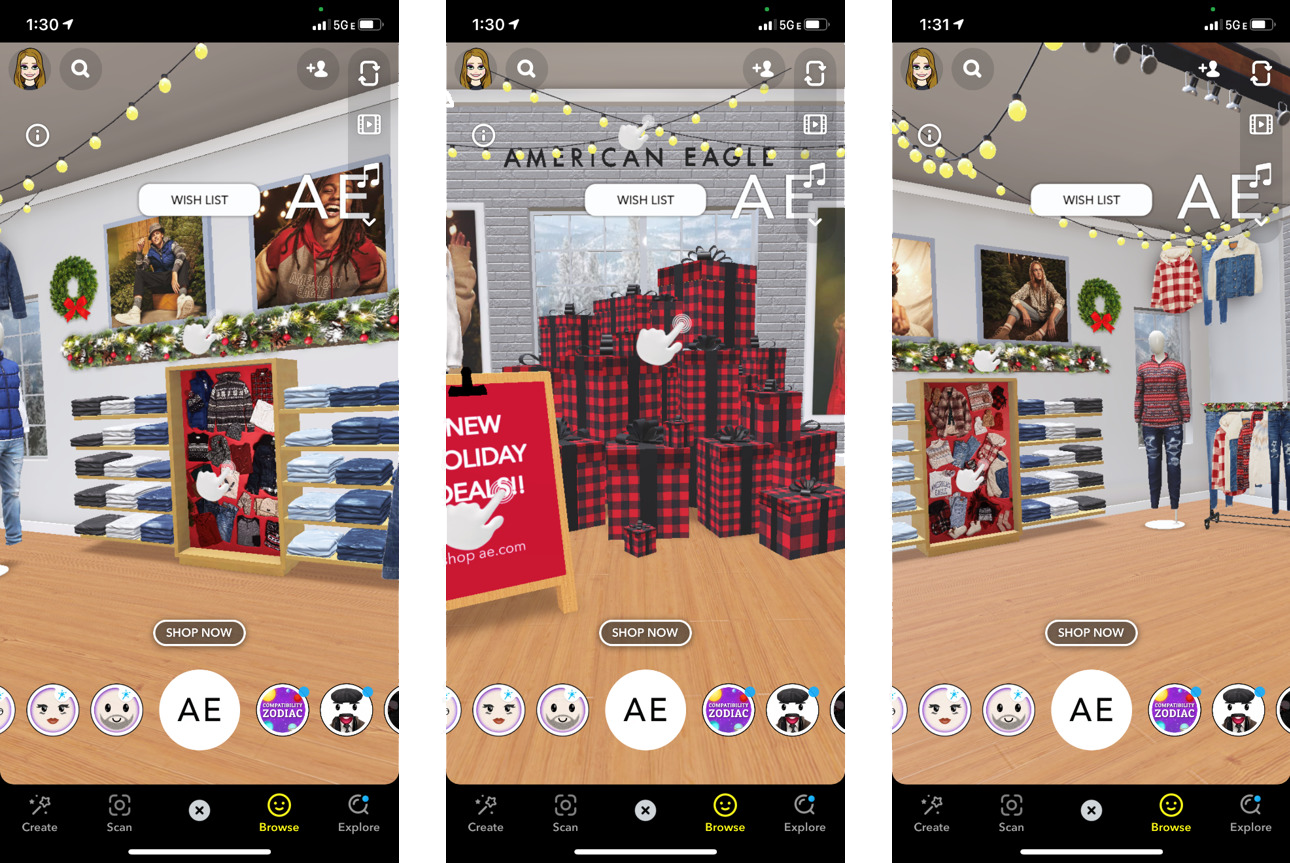 Augmented Reality online store on Snapchat