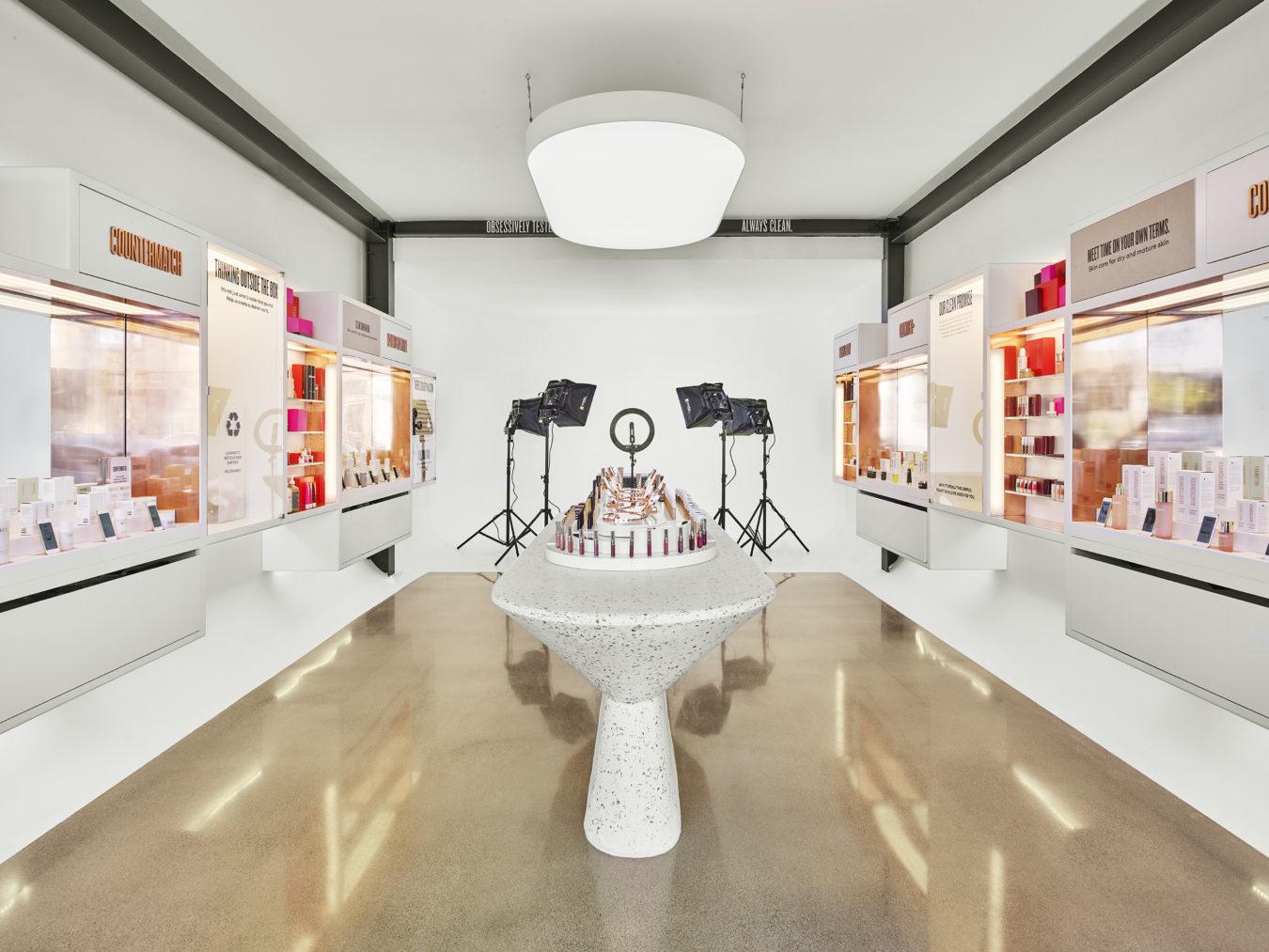 Filming studio inside beauty shop