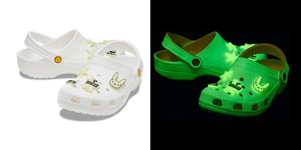 Release Date and Where to Buy : Bad Bunny x Crocs Glow-in-the-Dark Clogs  Price – Stats Globe