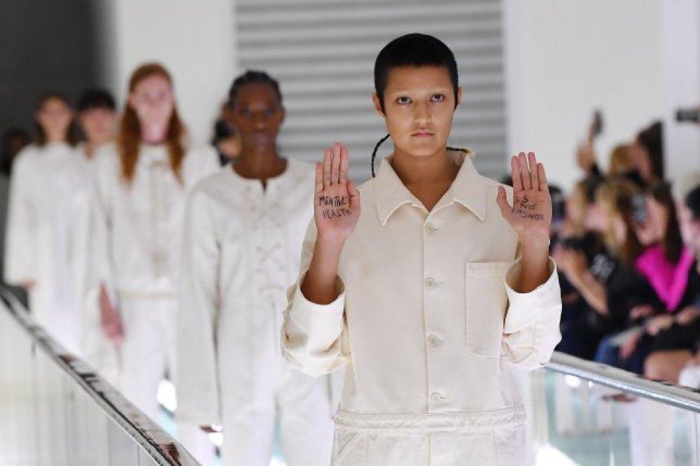 Gucci model Protest