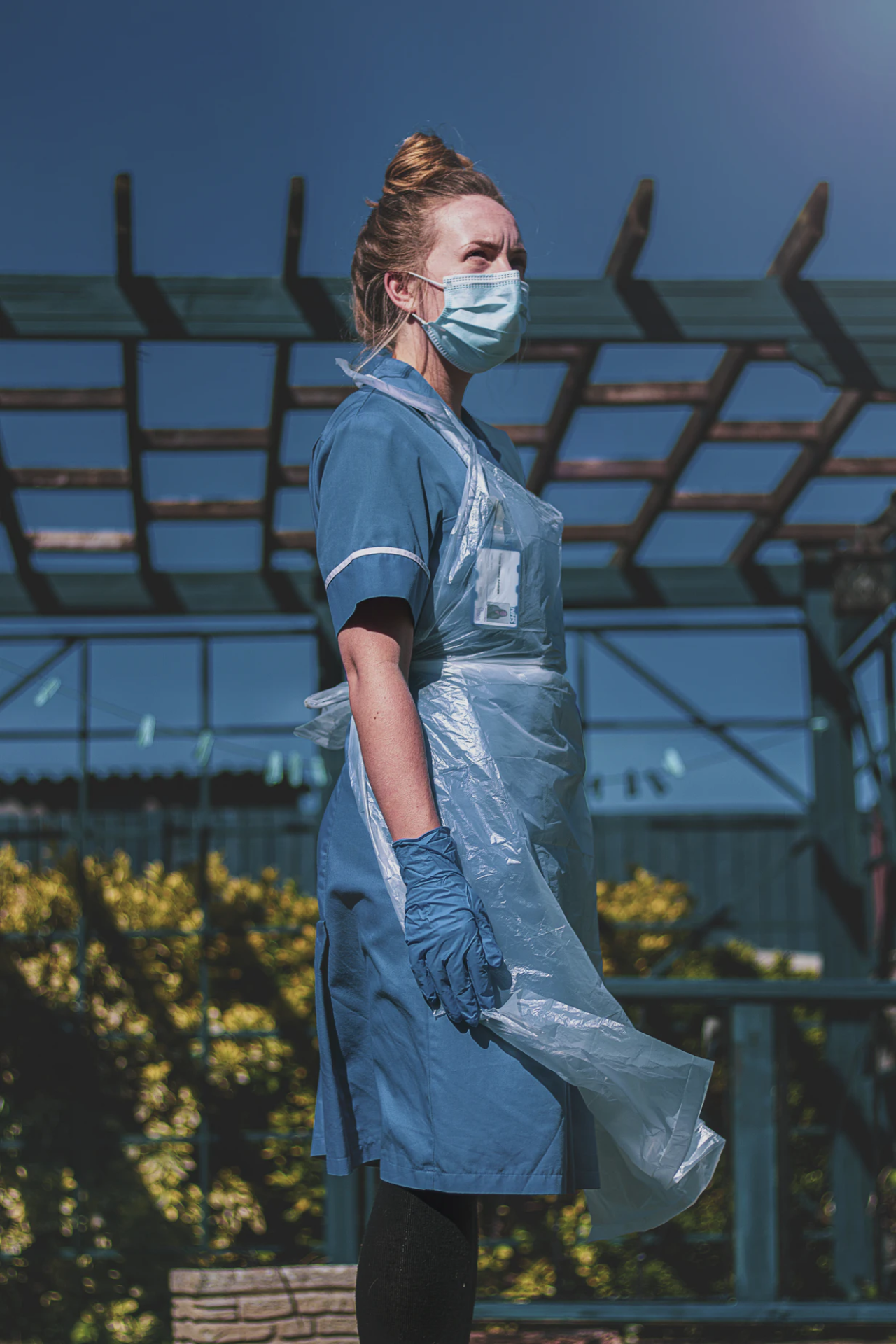 A nurse in PPE