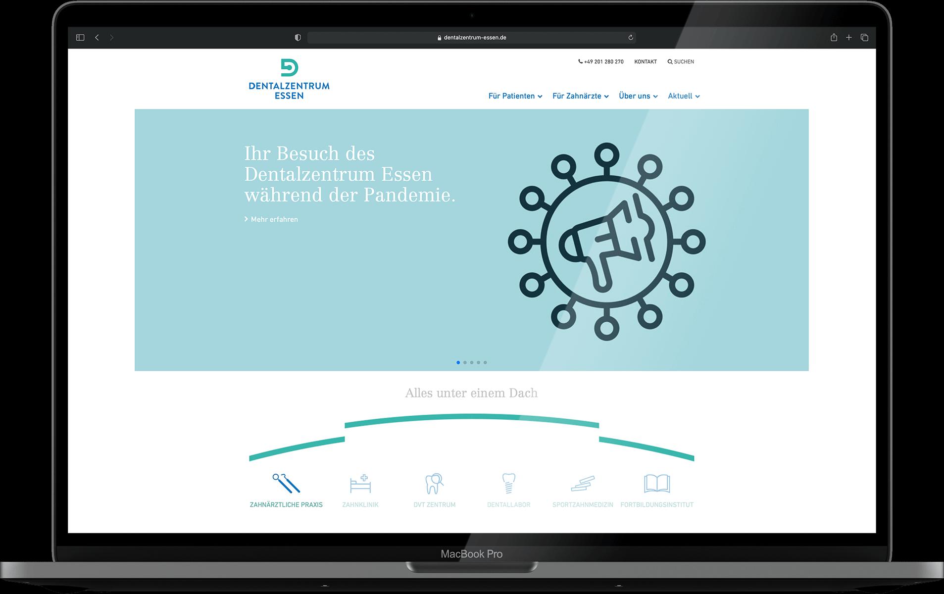Dentalzentrum Essen Website