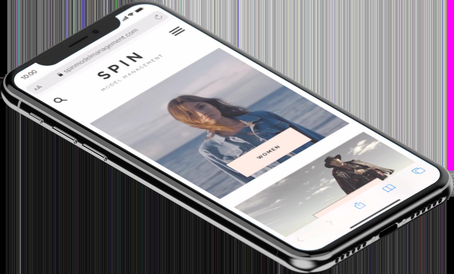Spin Model Website mobil