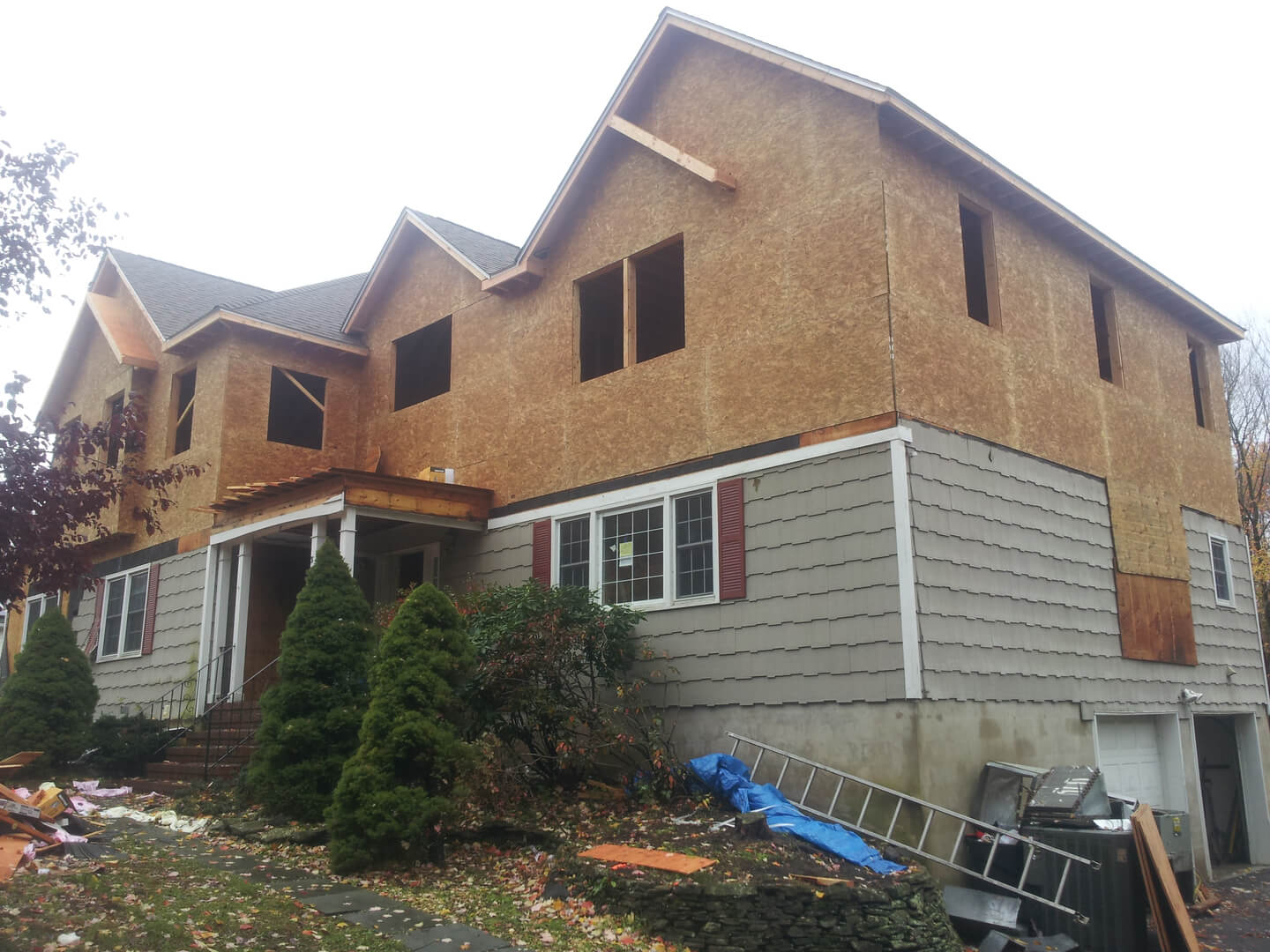 NJPB framing add-a-level to new two-story house
