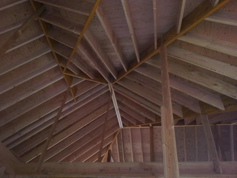 NJPB framing roof interior view