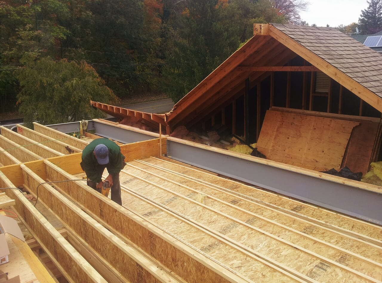 NJPB framing roof of house