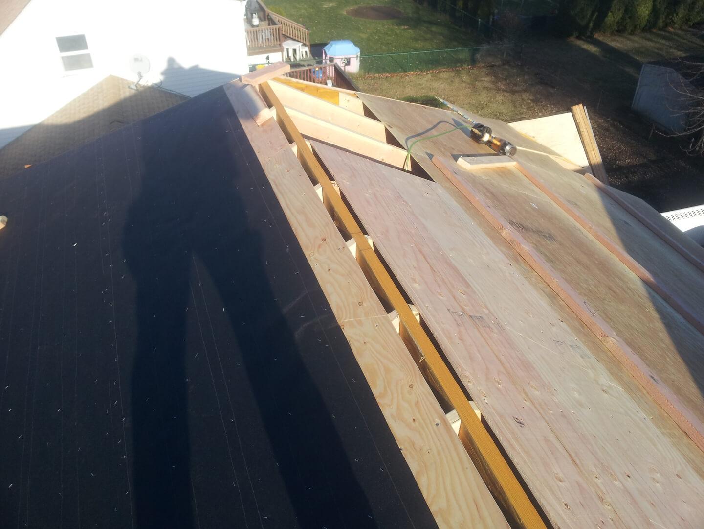 NJPB framing roof half done