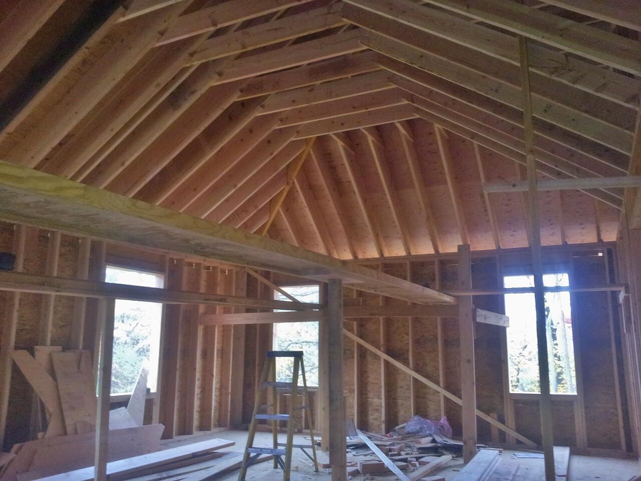 NJPB framing finished roof