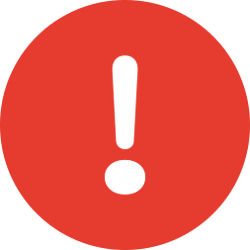 An error symbol.