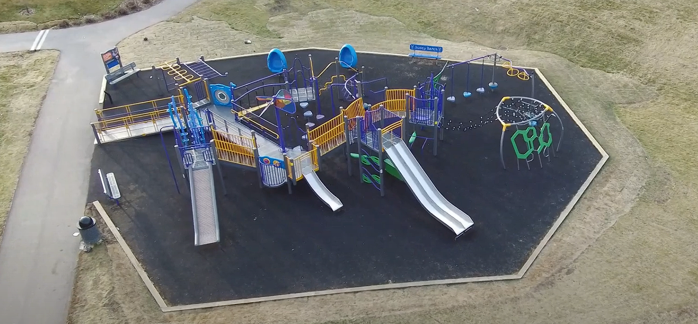 St. Veronica's School Playground With Timelapse Video (Airdrie, AB)