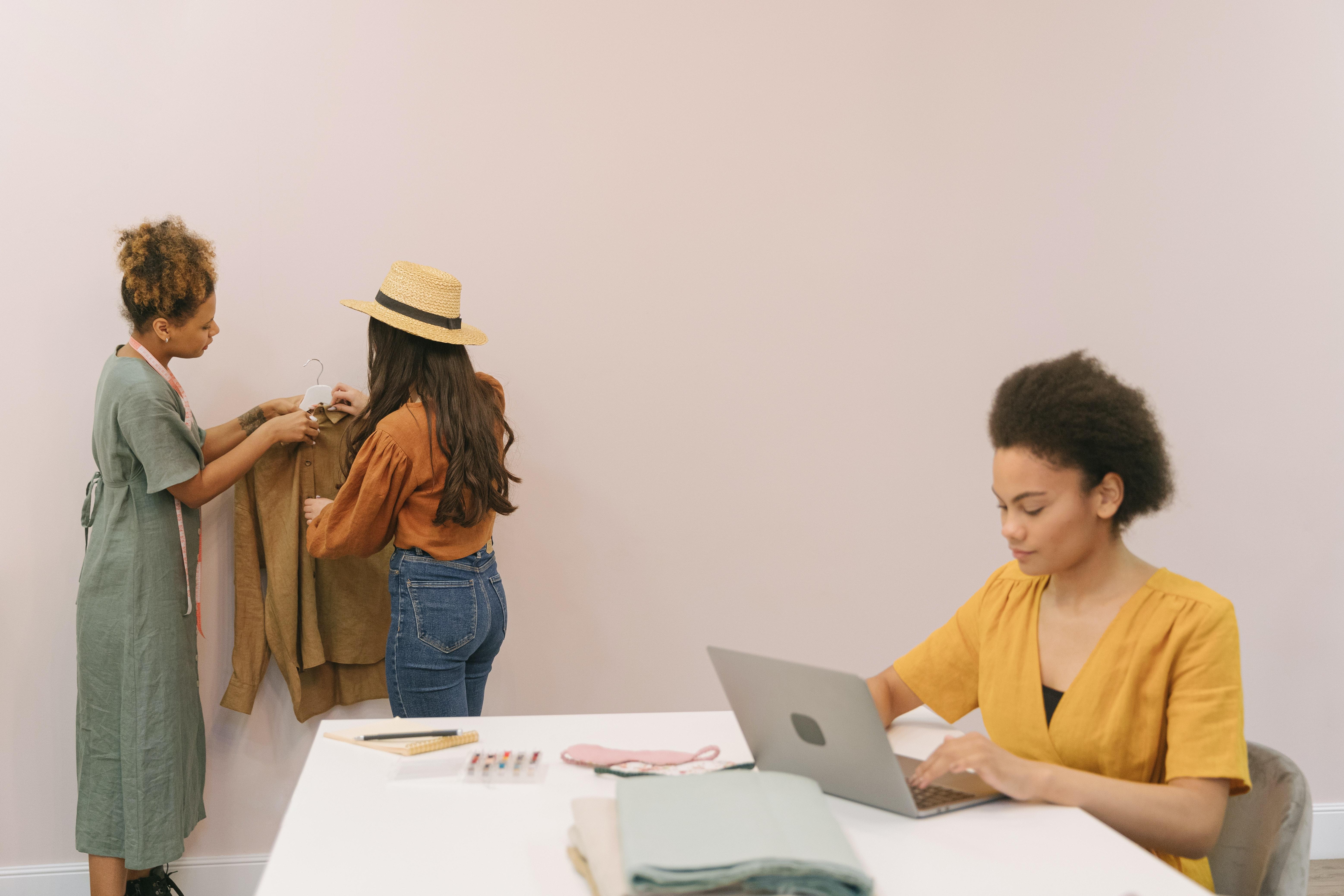 Women running a fashion business