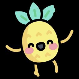 Photo d'un ananas content