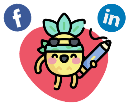 Icone digidop avec logo linkedin et facebook