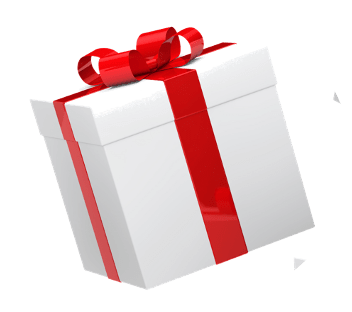 Paquet cadeau blanc avec ruban Rouge