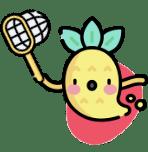 Icone ananas avec un filet dans la main