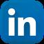 Icone Linkedin bleu 3d