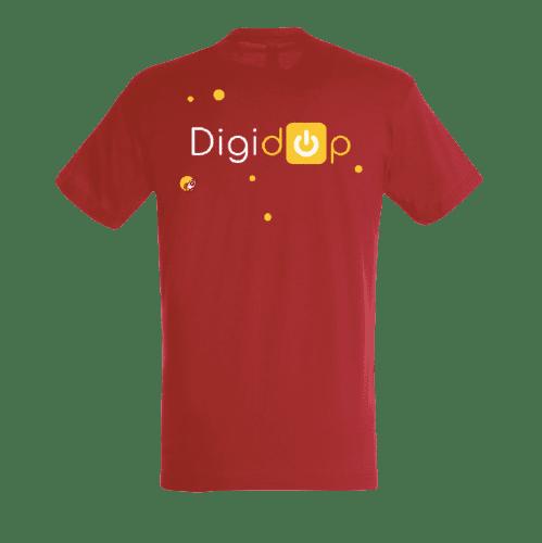 T shirt rouge avec logo Digidop