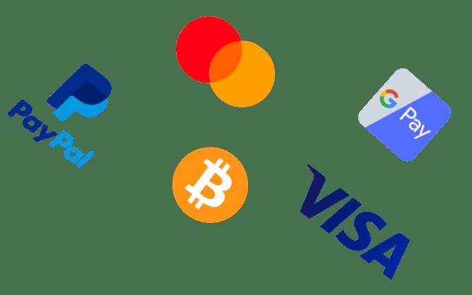 Différents logos de moyens de paiement en e-commerce
