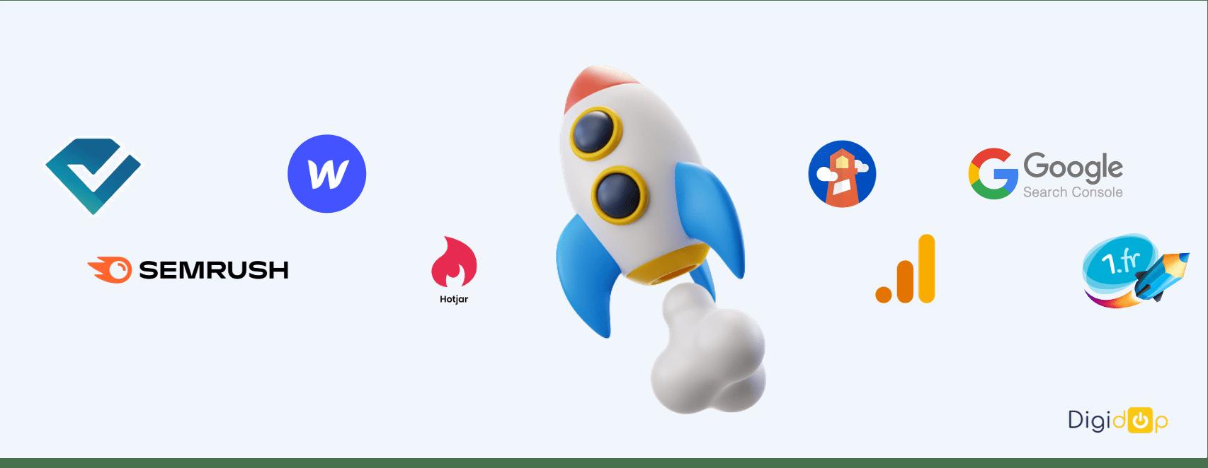 outils seo 2021 : semrush, analytics, webflow, lighthouse
