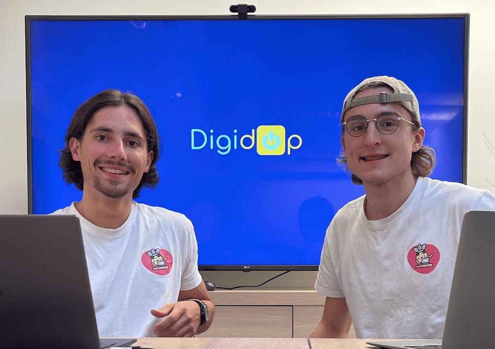 Thomas et Florian les co-fondateurs de Digidop, agence nocode