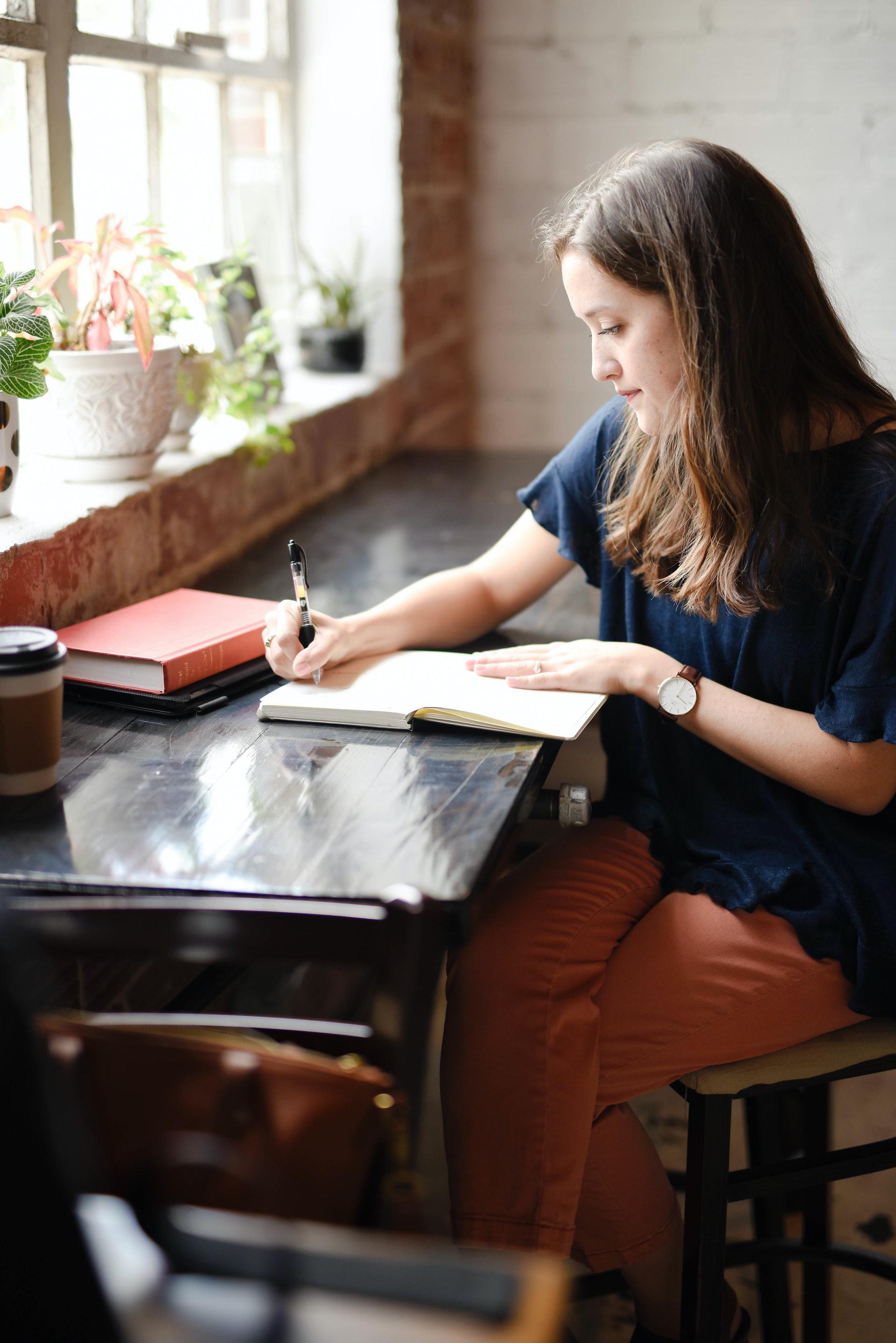 Woman preparing for the UCAT