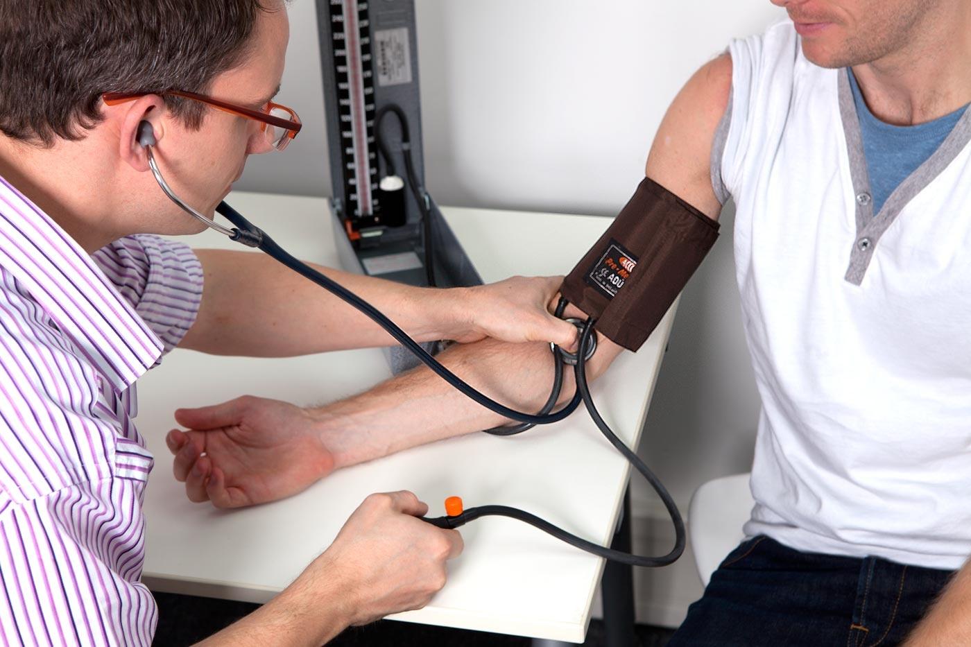 Record the true blood pressure