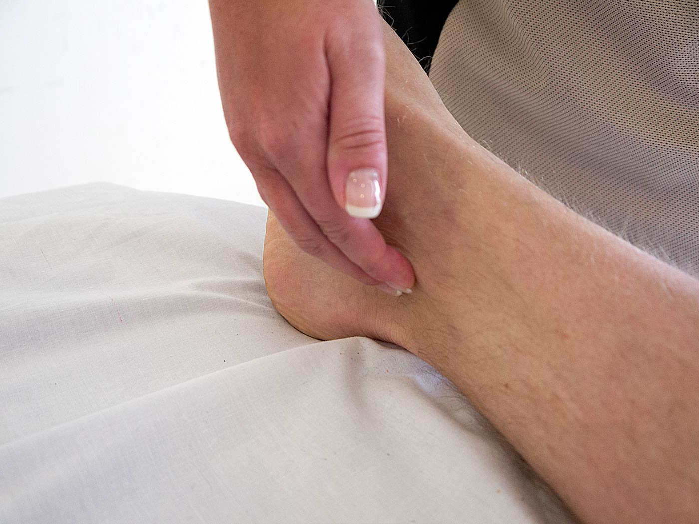 Feel for the Posterior Tibial pulse
