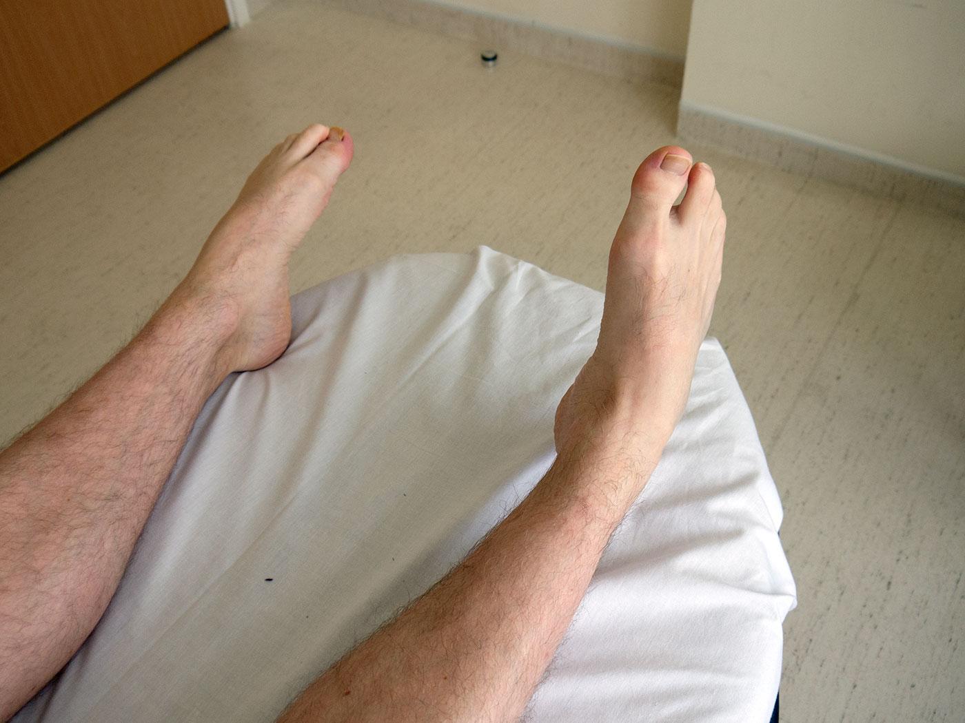 Foot inversion movement