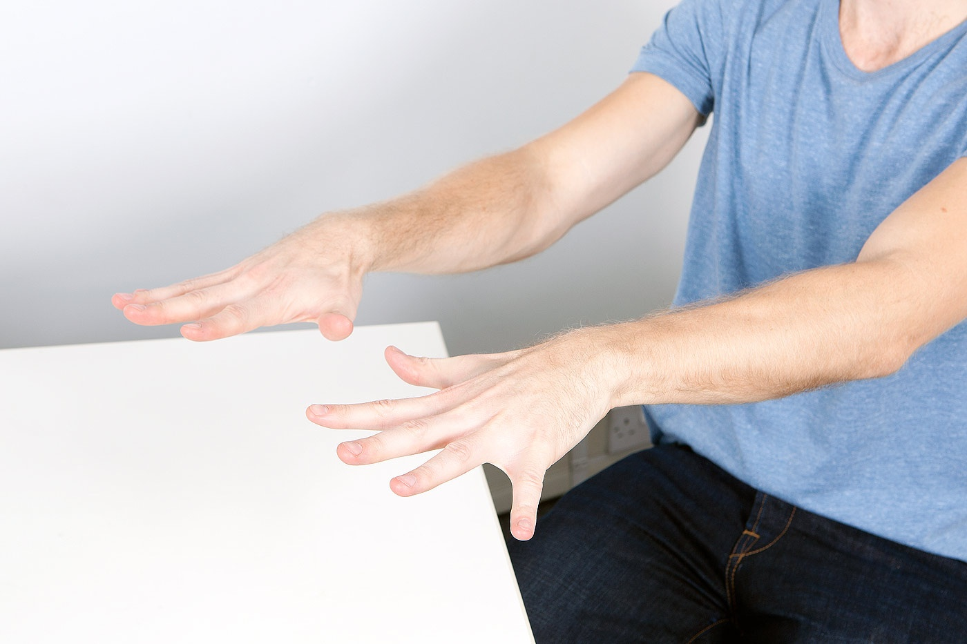 Finger abduction