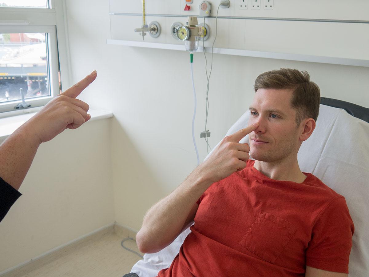 Finger-to-nose test 1