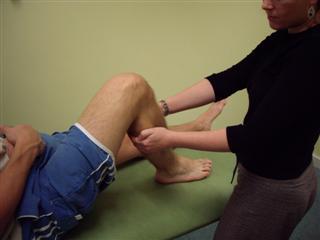 Assess knee flexion