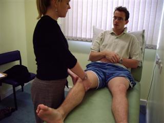 Assess knee tone