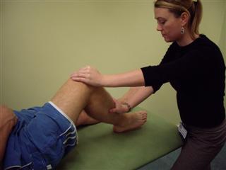 Assess knee extension