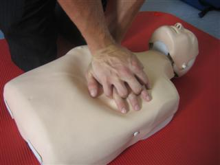 Begin chest compressions