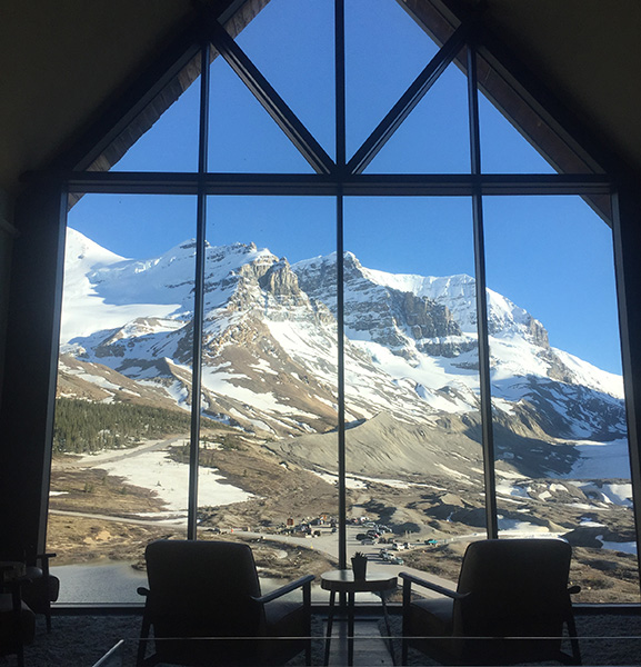 View from Glacier View Lodge in Jasper National Park