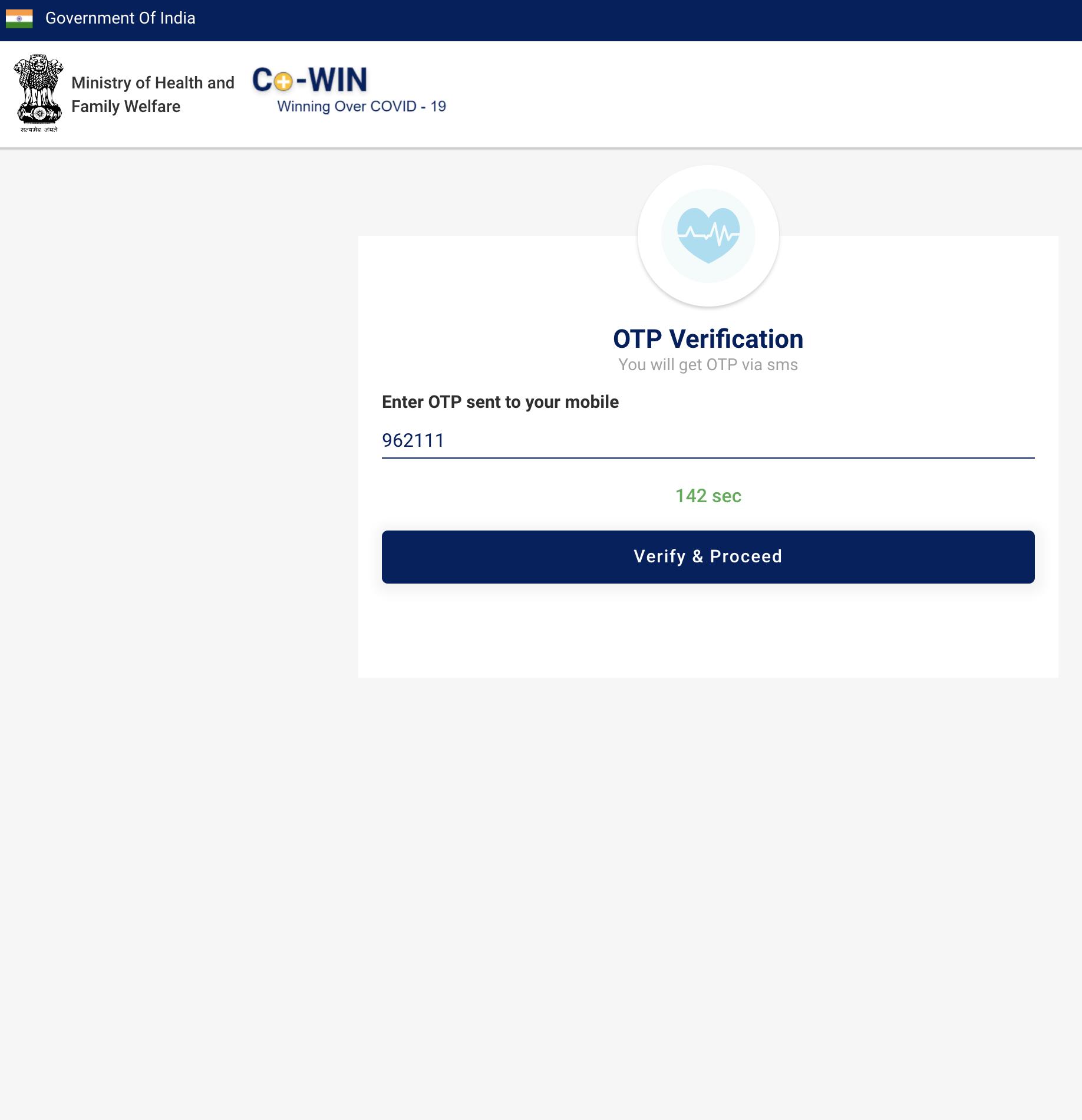 Cowin Covid India Vaccination Registration