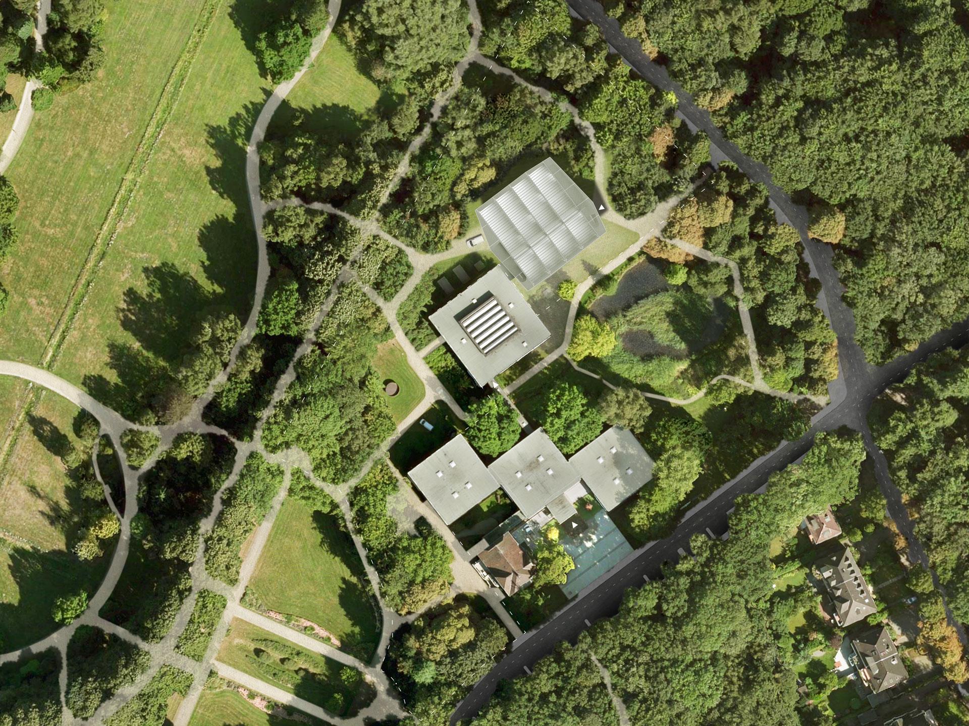 Das Luftbild zeigt die Weiterentwicklung der bestehenden Anlage