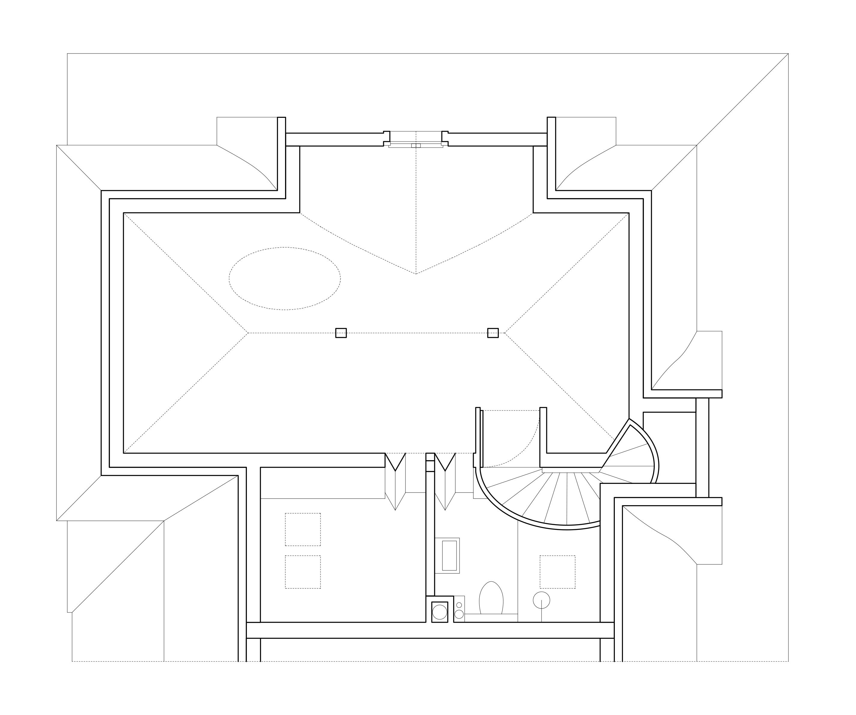 Der Raum im Dachgeschoss zeichnet sich durch seine Grosszügigkeit aus