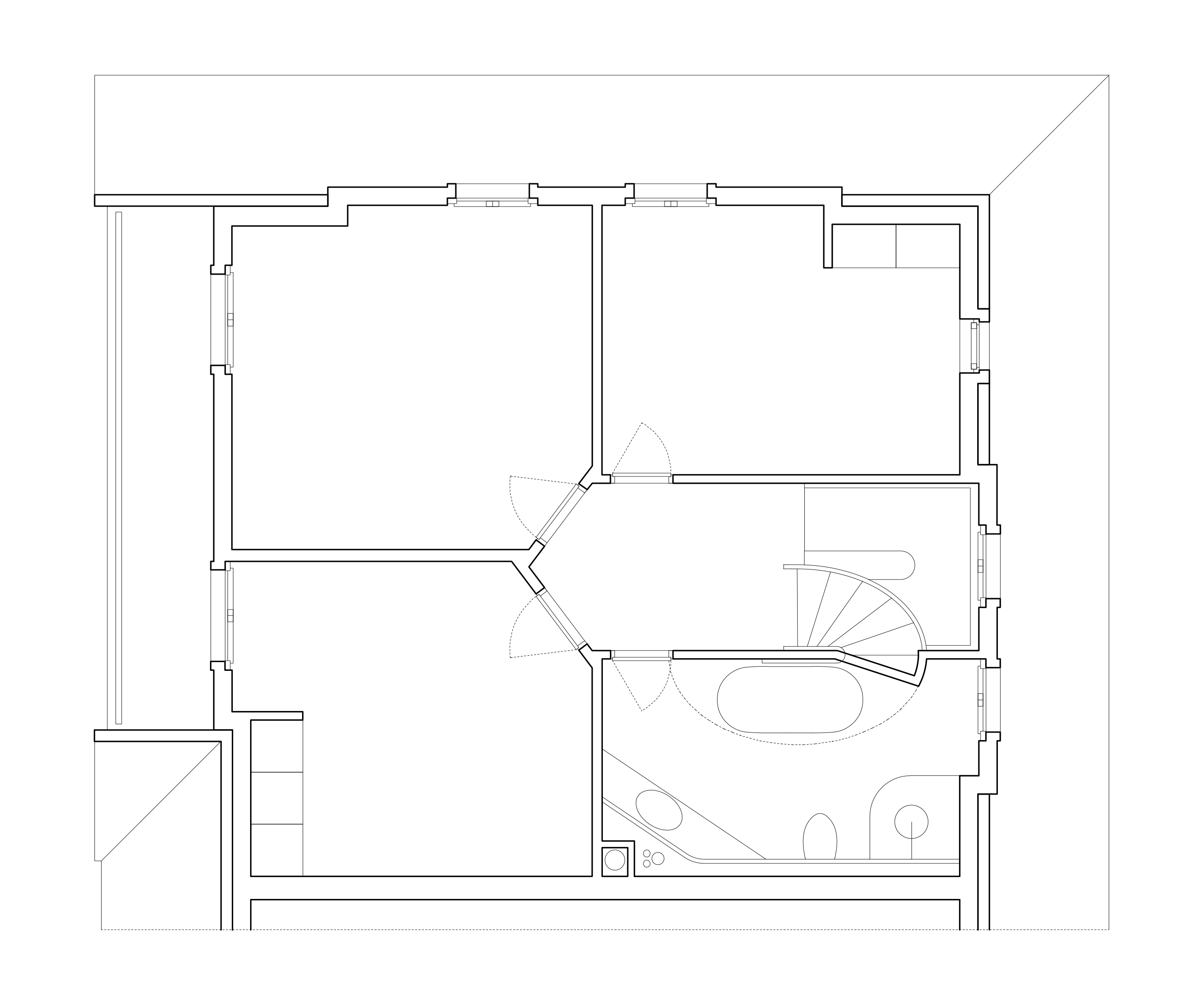 Die neue Verteilung der Zimmer bewirkt eine klare Erschliessungsfigur