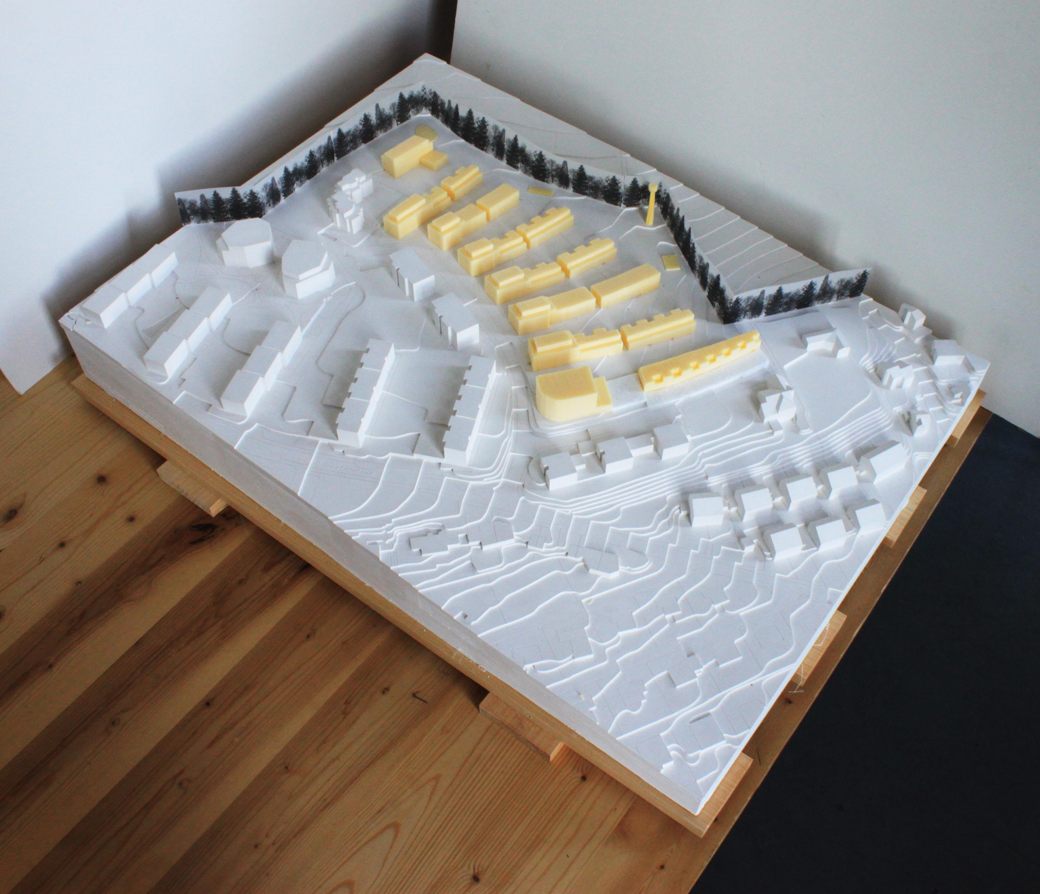 Konzeptmodell von neuen Quartier