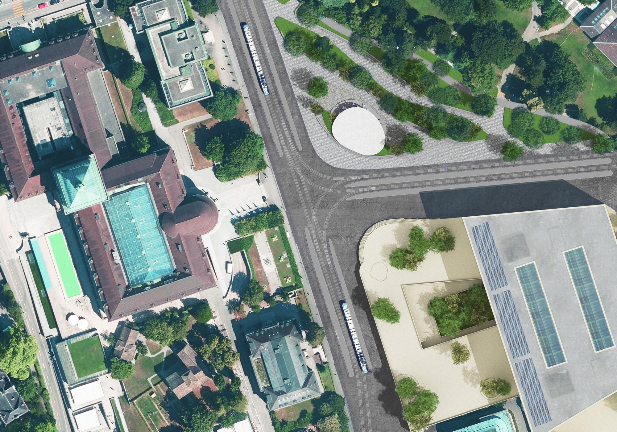 Luftbild vom Hochschulgebiet