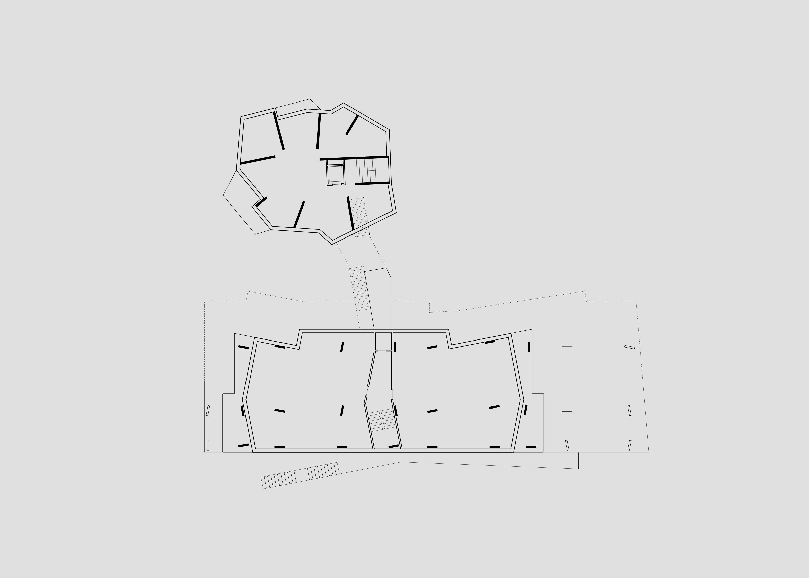 Strukturplan beider Häuser an der Rechenettestrasse