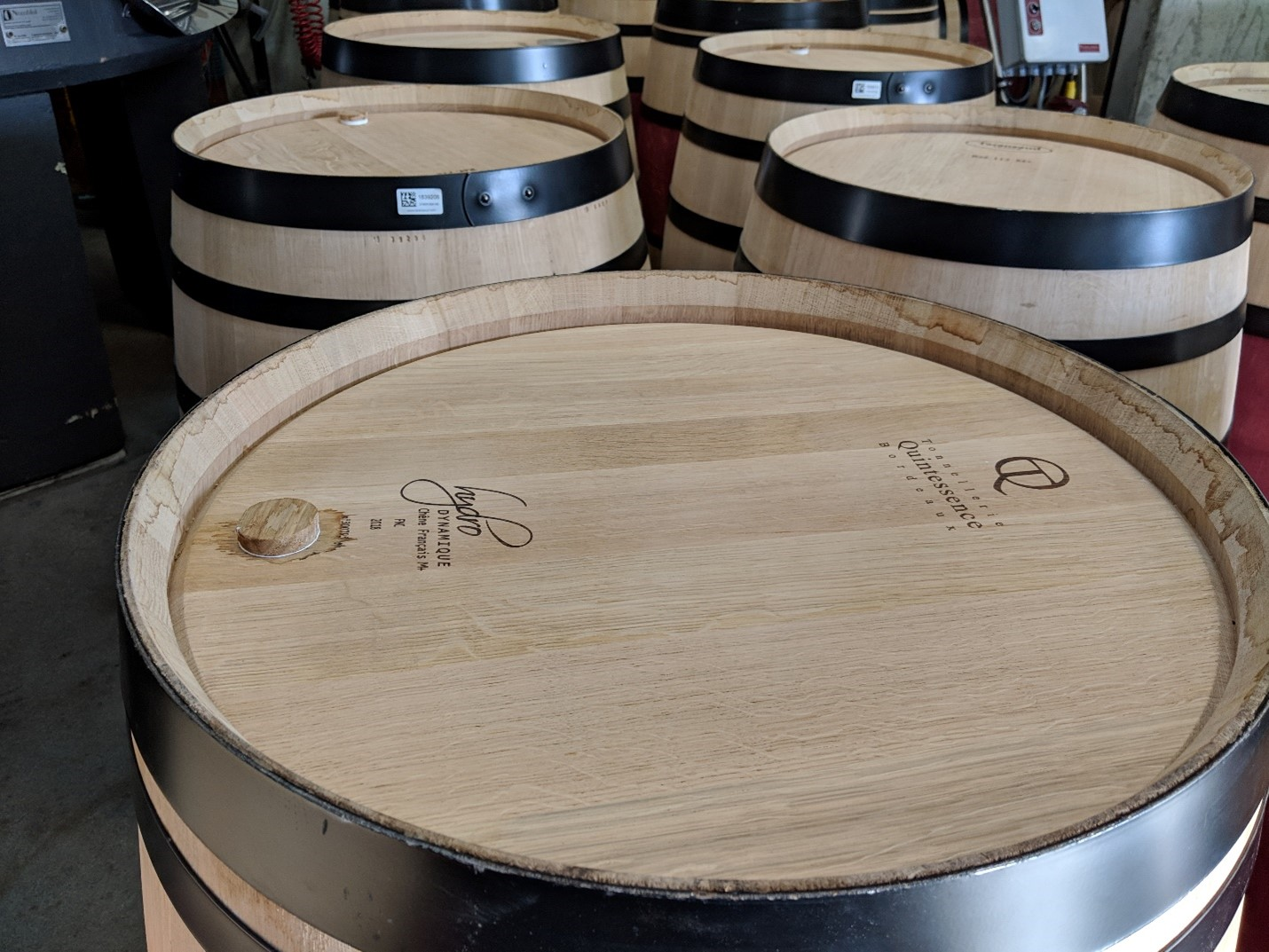 New wine barrels being trialed by a winery.