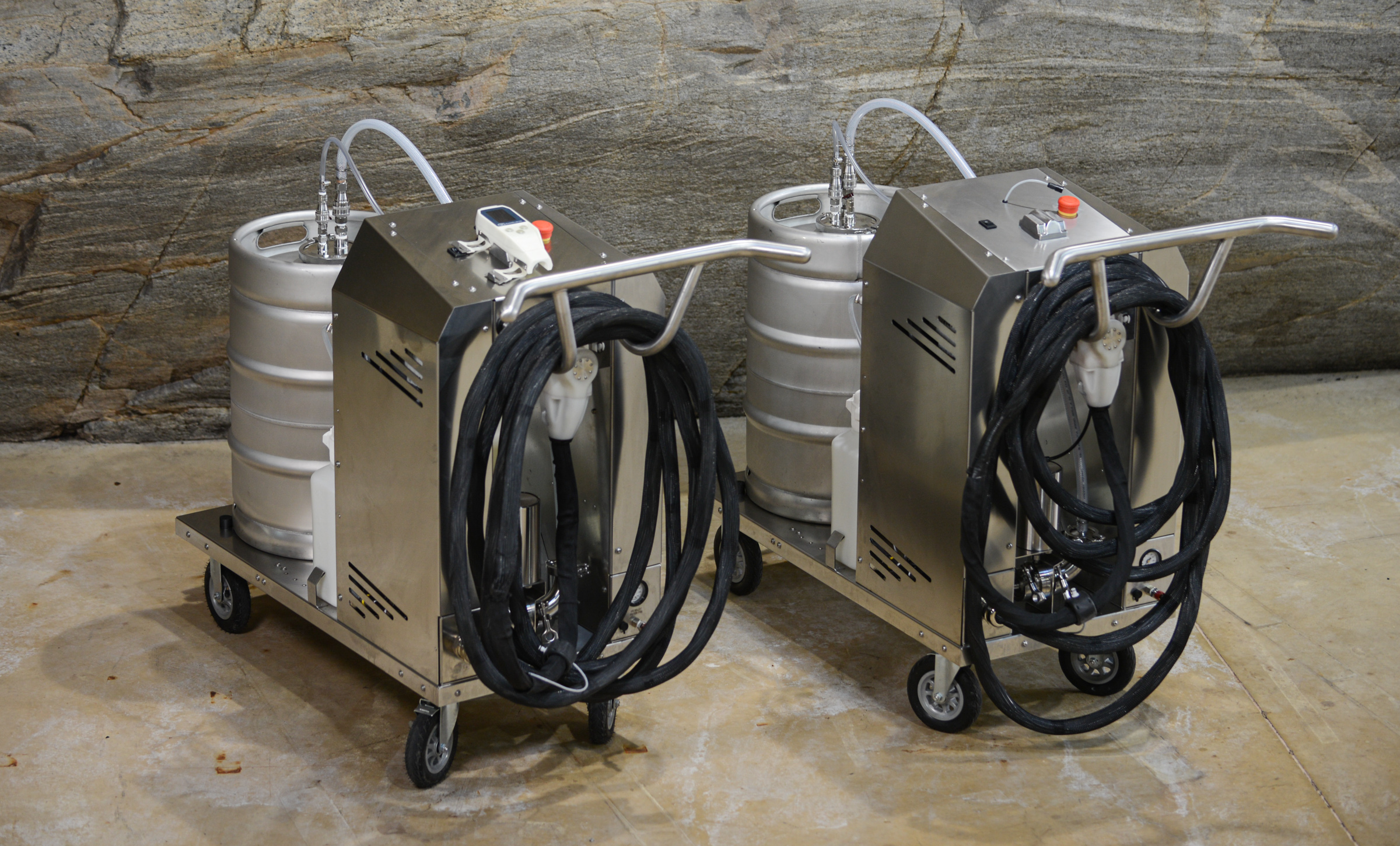 Two BarrelWise barrel management systems side by side.