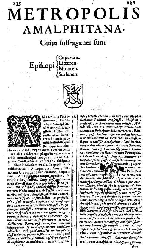 Ughelli, Cronaca Amalfitana, p. 235