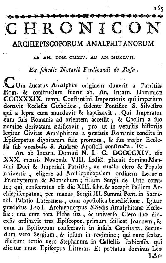 Pelliccia, Cronicon, p. 165