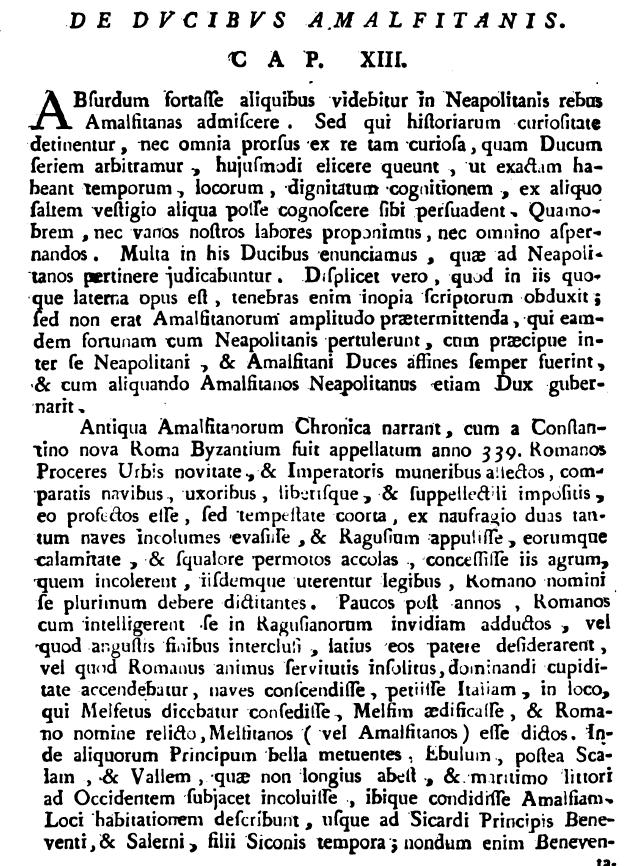 Capaccio, p. 150, lib. II