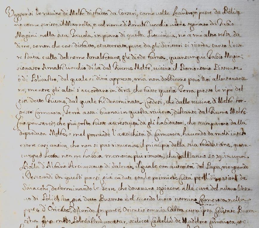 Mannelli, p. 46v, su Molpa ancora e Amalfi