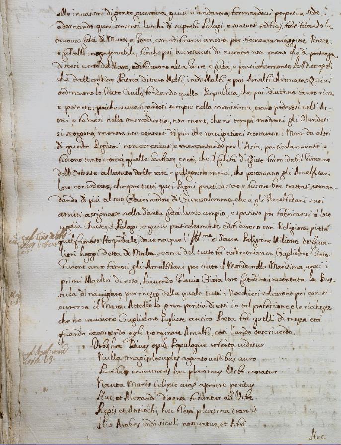 Mannelli, p. 44r, su Molpa e le origini di Amalfi