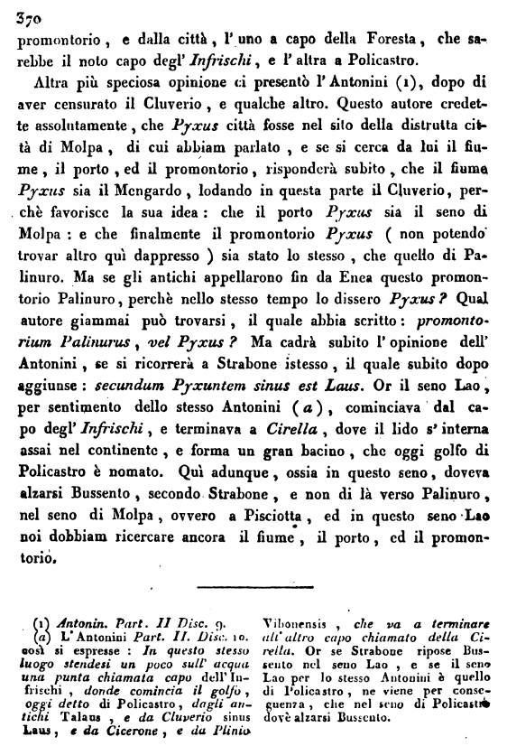 Romanelli, su Bussento e Molpa, p. 370